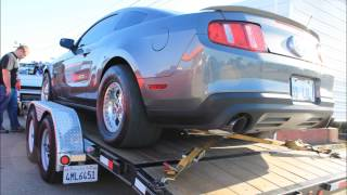 getlinkyoutube.com-Greg Turner Record Set Fastest 2011 Mustang 5.0 Coyote SuperCharged !!! Video of racing inside