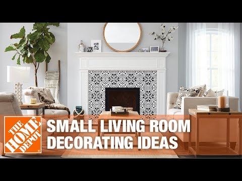 A video provides decorating ideas for small living rooms.