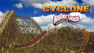 getlinkyoutube.com-[RCT3] Cyclone - Dinn Corporation Wooden Coaster CT