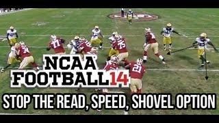getlinkyoutube.com-NCAA 14 How To SHUT DOWN all Option Run Plays