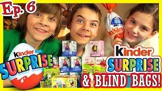 getlinkyoutube.com-KINDER SURPRISE EGGS! BLIND BAGS! Ep. 6 | DISNEY FROZEN PRINCESS ELSA ANNA SPONGEBOB LEGO