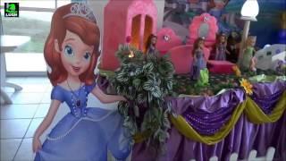 getlinkyoutube.com-Princesa Sofia - Decoração tradicional luxo para festa de aniversário de meninas