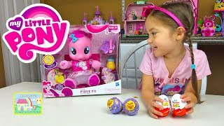 getlinkyoutube.com-CUTEST EVER BABY MY LITTLE PONY PINKIE PIE + Kinder Surprise Eggs + MLP Chupa Chups Surprise Toys