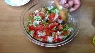 getlinkyoutube.com-サッパリ美味しい!サルサソース Salsa source Recipe. 外メシ32