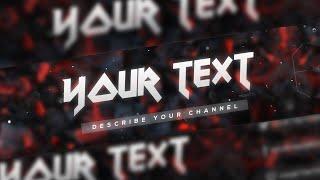 getlinkyoutube.com-[SpeedArt] FREE Amazing Youtube Channel Banner Template #13 + Direct Download Link