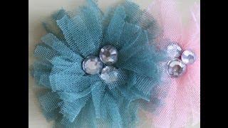 getlinkyoutube.com-Tu-Tu Tulle Bling Flower Tutorial