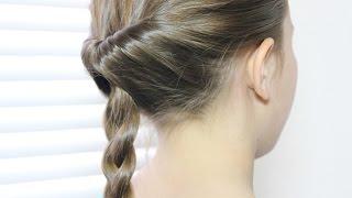 トップシィテールを使って みつ編みのアレンジ Simple Braid Arrangement with Topsytail