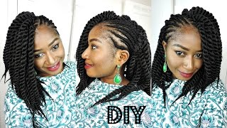 getlinkyoutube.com-DIY || ONE SIDED MOHAWK MAMBO TWIST CROCHET BRAIDS