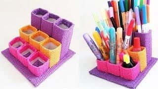 getlinkyoutube.com-DIY penholder out of paper tubes