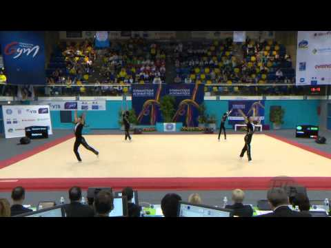 CHINA, Men's Groups - Dynamic Qualifications  -- 2014 Acrobatic Worlds, Levallois-Paris (FRA)