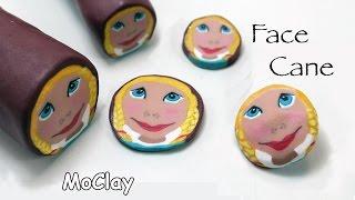 getlinkyoutube.com-DIY Polymer Face Cane tutorial