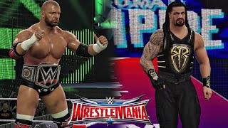 WWE 2K16 Wrestlemania 32 - Triple H & Roman Reigns Attires Entrances