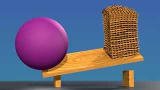 getlinkyoutube.com-Big ball vs Keva planks tower