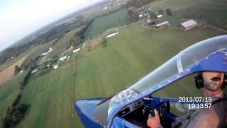 GT500 Take Off from Crosswind Field
