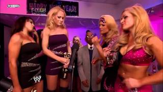 getlinkyoutube.com-Natalya & Beth Phoenix w/ Lay-Cool Segment SMACKDOWN 31/12/2010