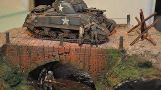 "getlinkyoutube.com-M4 Sherman 1/35  ""Under the Bridge"" Diorama"