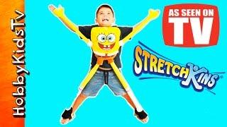 getlinkyoutube.com-SpongeBob StretchKins As Seen on TV! Toy Nickelodeon Exercise HobbyKidsTV