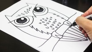 getlinkyoutube.com-How To Draw An Owl