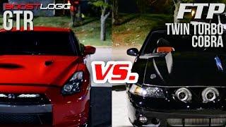 Boostlogic-GTR-vs-FTP-Twin-Turbo-Mustang width=