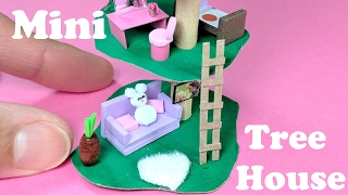 getlinkyoutube.com-DIY Miniature Treehouse - Doll DIY
