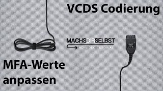 [Golf V]MFA Werte anpassen/hinzufügen mit VCDS Tutorial (HD)