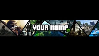getlinkyoutube.com-[SpeedArt] Template Banner Multi-Gaming | PhotoShop