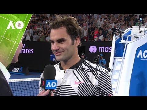Roger Federer on court interview (4R) | Australian Open 2017