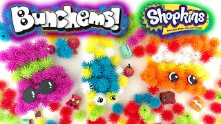 getlinkyoutube.com-Shopkins BUNCHEMS Squishy Balls of Fun I Season 3 12 Pack Opening