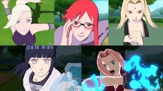 getlinkyoutube.com-Ino, Sakura, Karin, Tsunade, Hinata - Combinación de combos AMV