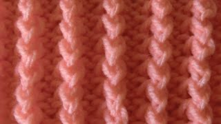 knit pattern *  MINI CABLE STITCH---very easy *