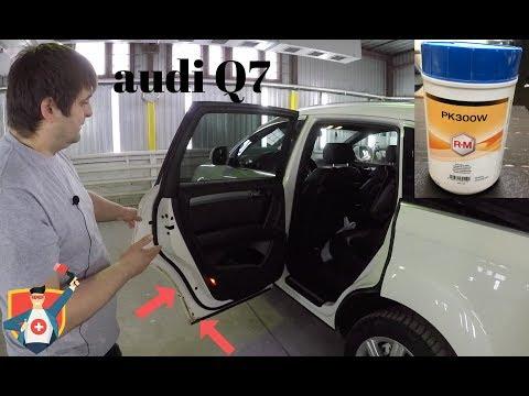 Болячки' Audi Q7 и Volkswagen Touareg. Устранение коррозии, локальная покраска задних дверей.