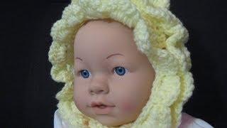 getlinkyoutube.com-Vintage Style  Crochet Baby Bonnet