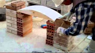 Download video construcci n arco de medio punto con for Arcos de ladrillo visto