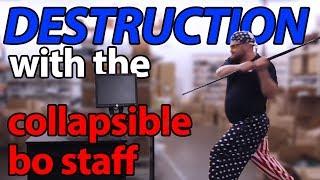 getlinkyoutube.com-DESTRUCTION! Collapsible Bo Staff Demonstration - KarateMart.com