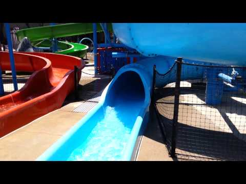 Joaquin rides the Big Blue tube (7-1-14)