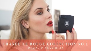 getlinkyoutube.com-Chanel Le Rouge No1 Makeup Tutorial & Collection Reveal / 1st Look || STYLE LOBSTER