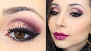 getlinkyoutube.com-Maquiagem em tons de roxo para arrasar no inverno - Jana Taffarel