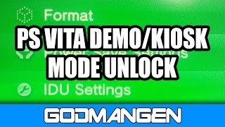 getlinkyoutube.com-PS Vita DEMO MODE Unlock! + IDU Settings