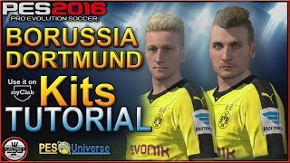 getlinkyoutube.com-PES 2016 Kits Tutorial PS4 - Borussia Dortmund Kits Tutorial ( use it on myClub too)