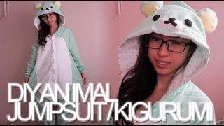 getlinkyoutube.com-DIY: Animal Jumpsuit / Costume / Onesie / Kigurumi