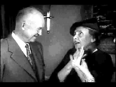 Helen Keller Meets President Eisenhower & Goes Shopping