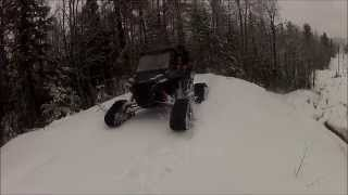getlinkyoutube.com-RZR 1000 on tracks and 2 RZR 900's climb snowy hill
