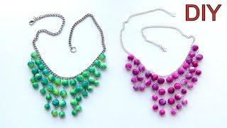 getlinkyoutube.com-Бижутерия своими руками: КОЛЬЕ из ярких бусин. Мастер-класс / DIY necklace