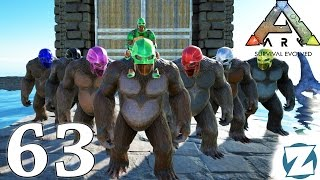 ARK Survival Evolved Gameplay - Ep63 - Gigantopithecus Taming with Kibble - Let's Play