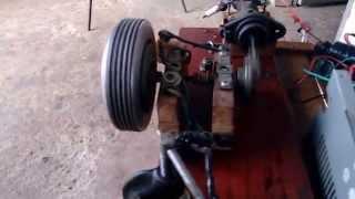 getlinkyoutube.com-Motor 2 tempos Caseiro, feito com Burrinho de Freio. 1200rpm. Combustion Engine, Homemade 2 Stroke.