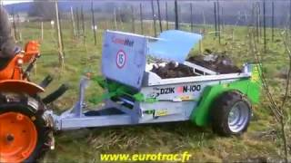 Mini Epandeur DZIK tracté par micro-tracteur    www.eurotrac.fr
