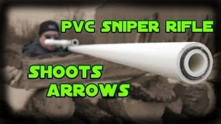 getlinkyoutube.com-PVC Air Rifle Part 5: Shooting Arrows - Test & Demo
