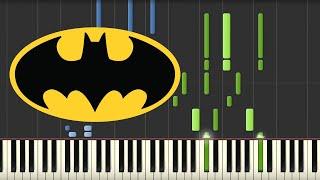 Batman Theme - Danny Elfman (Piano Tutorial) width=