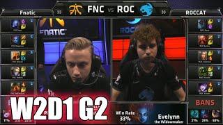 getlinkyoutube.com-Fnatic vs ROCCAT | S5 EU LCS Summer 2015 Week 2 Day 1 | FNC vs ROC W2D1 G2 Round 1