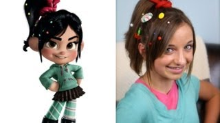 getlinkyoutube.com-Wreck-It Ralph Hairstyle Tutorial | A CuteGirlsHairstyles Disney Exclusive